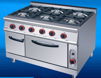 US-RQ-6 Commercial Kitchen Equipments Gas Range 6 Burner Gas Oven