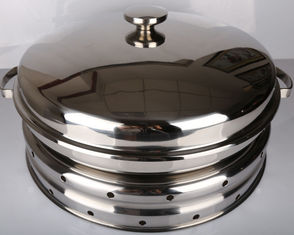 Hydraulic Round Stainless Steel Cookware / Rotating Roll Top Chafing Dish
