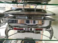 Hydraulic Glass Windowed Lid Stainless Steel Chafing Dish Full Sized 9L