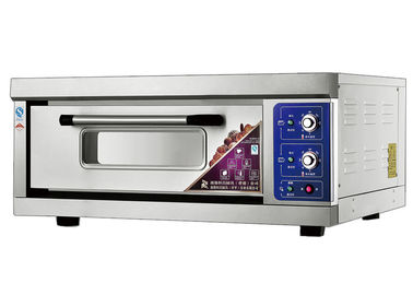 Chine 1 Deck 1 Tray Stainless Steel Electric Baking Ovens Laminated-Type Features Energy-Saving Temperature Range 20~300°C usine