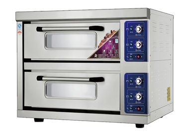 Chine 2 Decks 2 Trays Stainless Steel Electric Baking Ovens Laminated-Type Features Energy-Saving Temperature Range 20~300°C usine